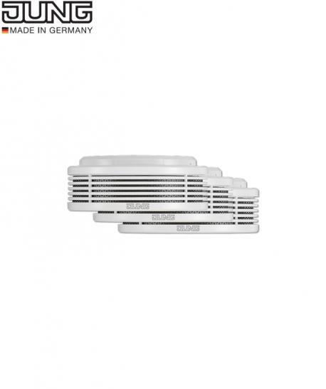 Dūmų ir temperatūros detektorius 3 vnt. rinkinis JUNG RWM 200-S3 WW